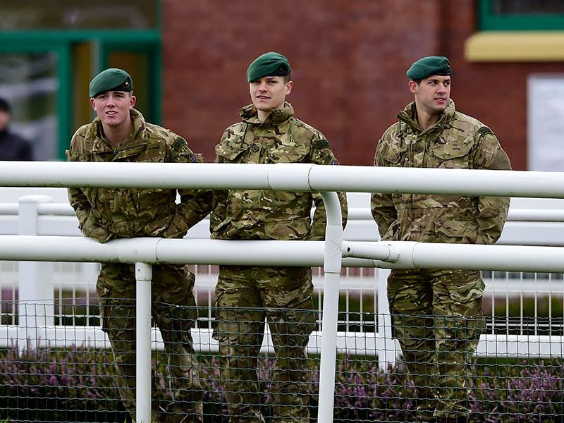 Fund raising royal marine